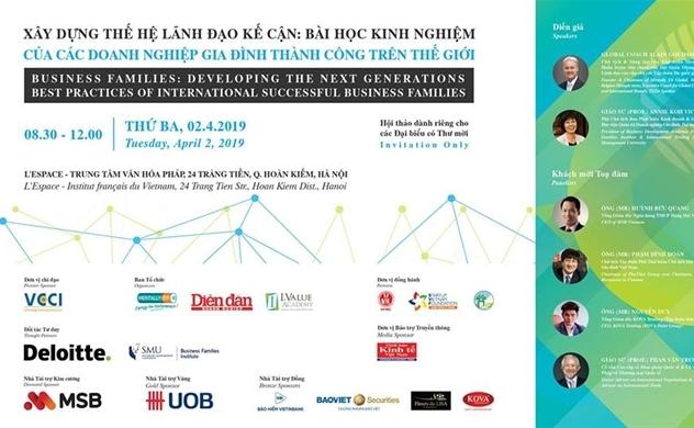 """Hội thảo """"Xây dựng thế hệ lãnh đạo kế cận: Bài học kinh nghiệm của các doanh nghiệp gia đình thành công trên thế giới"""""""