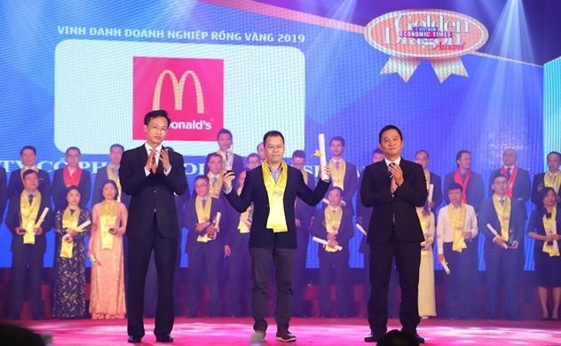 """McDonald's Việt Nam được vinh danh """"Doanh nghiệp phát triển bền vững"""""""