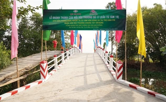 Nhựa Tiền Phong khánh thành Cầu nối yêu thương số 17 tại Cà Mau