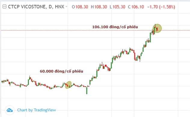 Vicostone ước lãi lớn, giá cổ phiếu tăng 'bỏ mặc' VN-Index