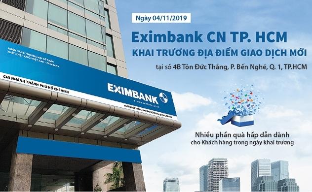 Eximbank Chi nhánh TP.HCM khai trương địa điểm giao dịch mới