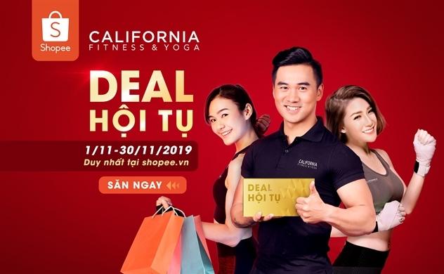 """Tải Shopee – Chớp ngay cơn mưa deal """"khủng"""" từ California Fitness & Yoga tháng 11 này"""