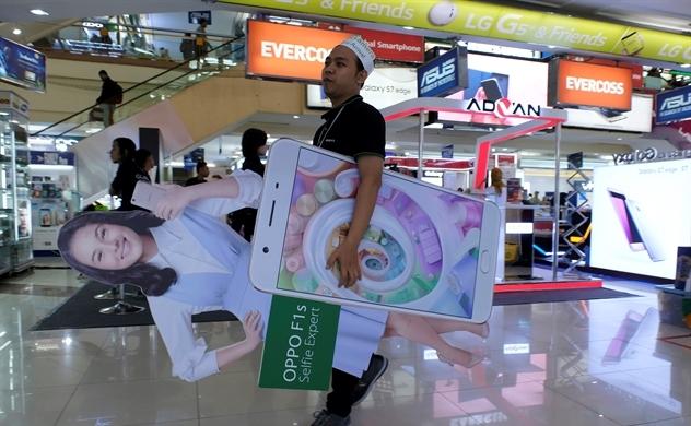 Đánh bại Samsung, Oppo thống trị thị trường smartphones Indonesia