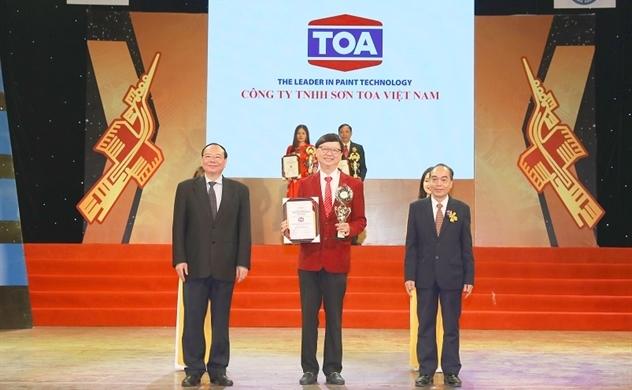 """Sơn nước TOA NanoShield và TOA NanoClean nhận danh hiệu Top 10 """"thương hiệu dẫn đầu Việt Nam 2019"""""""