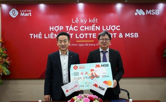 Ngân hàng MSB và Lotte Mart tái hợp tác, nâng cấp thẻ MSB - Lotte Mart