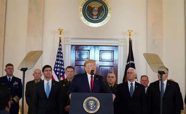 Tổng thống Trump: Iran dường như đã lùi bước sau các cuộc tấn công tên lửa