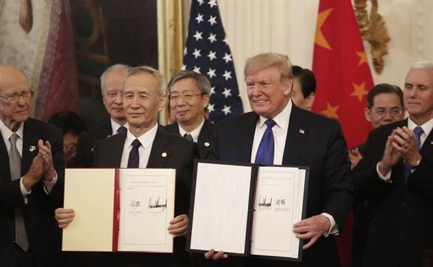 Mỹ - Trung Quốc chính thức ký kết thỏa thuận thương mại giai đoạn 1