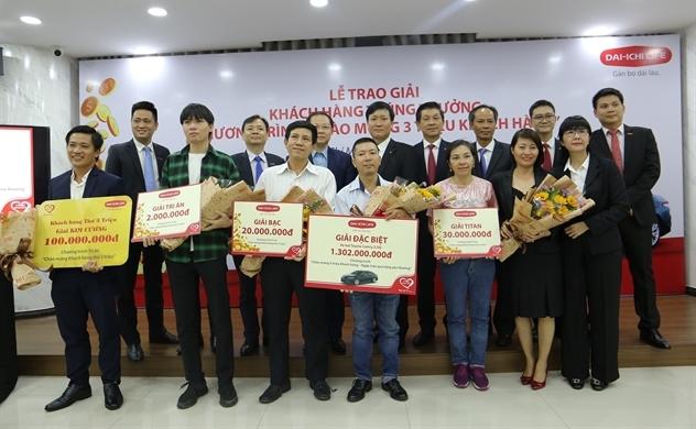 """Dai-ichi Life Việt Nam tổ chức Lễ trao giải cho khách hàng trúng thưởng chương trình """"Chào mừng 3 triệu khách hàng"""""""