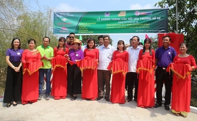 Nhựa Tiền Phong khánh thành 2 cây cầu của chuỗi dự án cầu nối yêu thương trong tháng 03