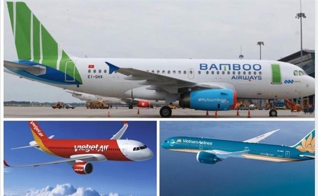 Vietnam Airlines, Bamboo Airways và Vietjet Air sẽ bay lại vào ngày 16.4