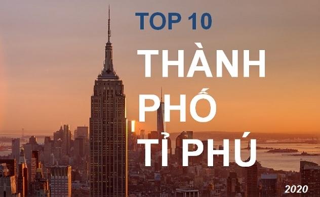 Top 10 thành phố có nhiều tỉ phú nhất thế giới