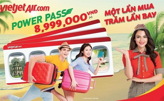 """Ở nhà chờ ngày cất cánh với thẻ bay vạn năng """"POWER PASS"""" Vietjet với 300 chuyến bay mỗi ngày khắp Việt Nam"""