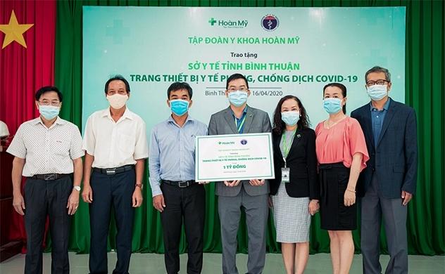 Tập đoàn Y khoa Hoàn Mỹ tài trợ trang thiết bị y tế trị giá 1 tỉ đồng cho Sở Y tế tỉnh Bình Thuận