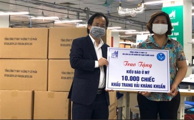 ALOV – May 10 tặng 10.000 chiếc khẩu trang kháng khuẩn cho kiều bào Mỹ