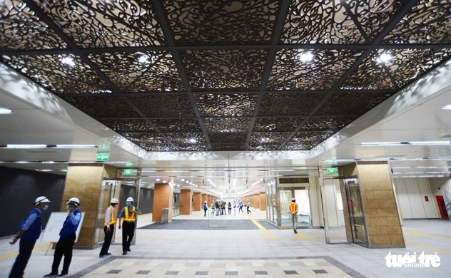 Saigon's downtown metro terminal set to open to public visits