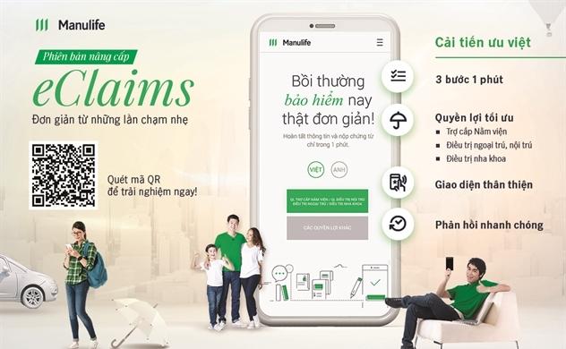 eClaims Manulife: Nâng cao trải nghiệm số hóa dịch vụ bảo hiểm