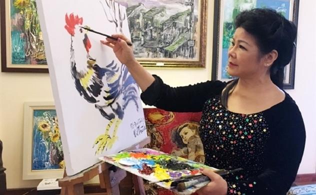 """Họa sĩ Việt kiều """"Đưa hội họa vào cuộc sống"""""""