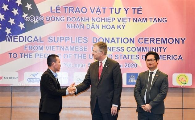 Doanh nghiệp Việt Nam tặng 1,3 triệu khẩu trang cho người dân Mỹ