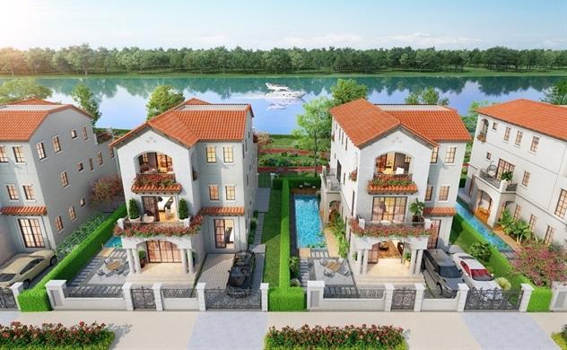 Biệt thự sinh thái ven sông Aqua City: Bản sắc thượng lưu