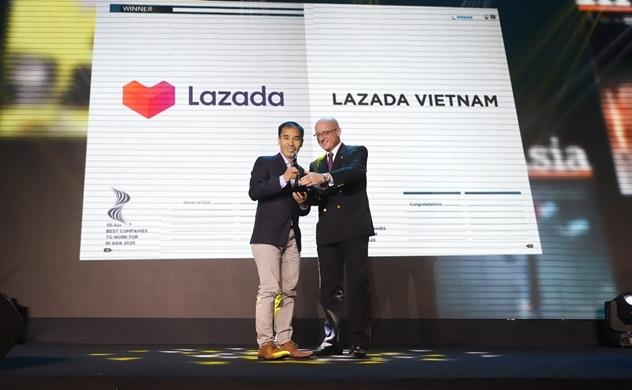 """Lazada - nền tảng thương mại điện tử duy nhất vinh dự là """"Nơi làm việc tốt nhất châu Á năm 2020"""""""