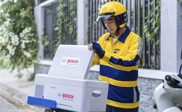 Hậu COVID-19 dịch vụ giao hàng của ứng dụng gọi xe be tăng 200%, bắt tay Bosch hỗ trợ giao sữa mẹ