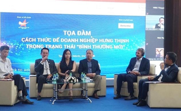 """Hội doanh nhân trẻ Việt Nam và Deloitte Việt Nam tổ chức Tọa đàm """"Cách thức để doanh nghiệp hưng thịnh trong trạng thái bình thường mới"""""""