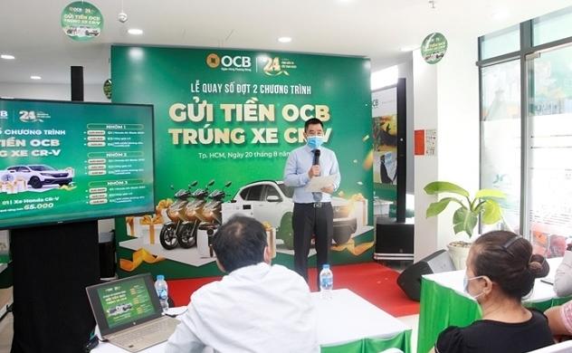 """OCB: Công bố kết quả quay số đợt 2 chương trình """"Gửi tiền OCB - Trúng Xe CR-V"""""""