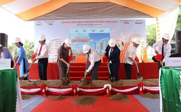Khởi công Bệnh viện Sản Nhi tỉnh Vĩnh Long với tổng vốn đầu tư gần 700 tỉ đồng