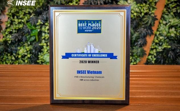 """INSEE Việt Nam được vinh danh trong """"Top 100 Nơi làm việc tốt nhất Việt Nam năm 2020"""""""