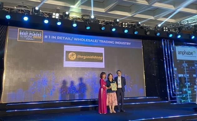 Thế Giới Di Động dẫn đầu nơi làm việc tốt nhất ngành bán lẻ và đạt nhiều giải thưởng Nơi làm việc tốt nhất Việt Nam 2020
