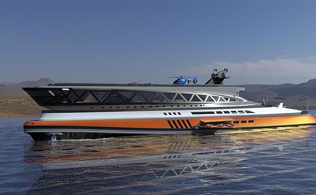 Siêu du thuyền trị giá 550 triệu USD trông giống như một con cá mập