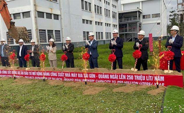Lễ động thổ dự án nâng công suất Nhà máy bia Sài Gòn- Quảng Ngãi
