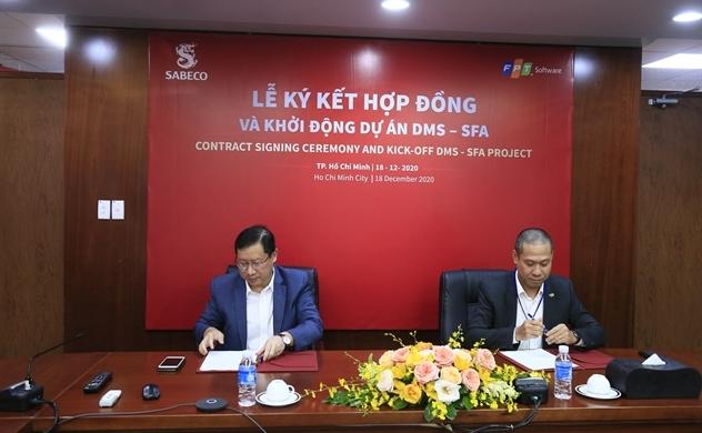 Lễ ký kết dự án DMS-SFA giữa FPT và Sabeco