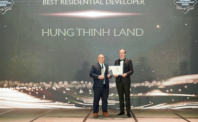 Hưng Thịnh Land nhận giải thưởng Nhà phát triển bất động sản nhà ở tốt nhất Đông Nam Á 2020