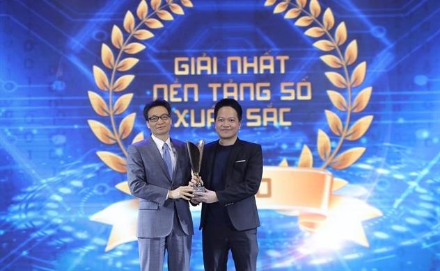 """Top 3 """"Nền tảng số Make in Vietnam"""" được Phó Thủ tướng Vũ Đức Đam trao tặng"""
