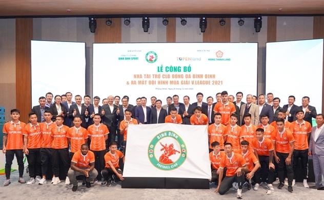 Topenland và Hưng Thịnh Land tài trợ 300 tỉ cho CLB bóng đá Topenland Bình Định trong 3 mùa giải V.League 2021 - 2023