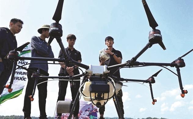 Drone trên đồng và A.I nuôi bò