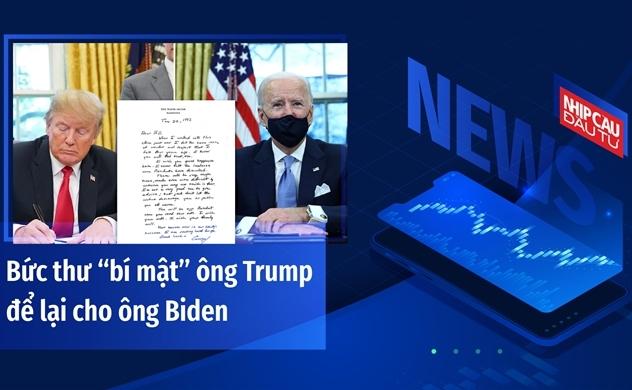 """Bức thư """"bí mật"""" ông Trump để lại cho ông Biden"""