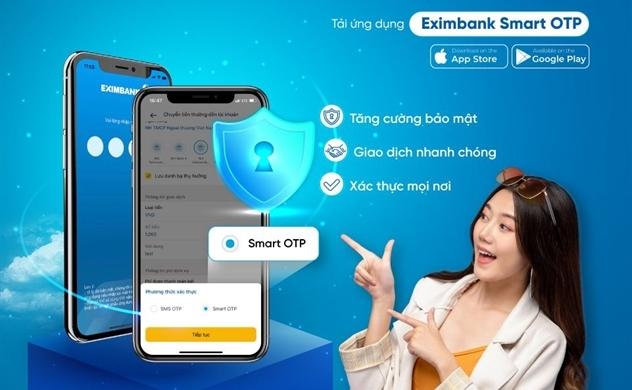 Eximbank triển khai phương thức xác thực Smart OTP