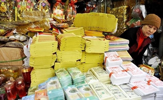 Một công ty bán vàng mã lãi hàng chục tỉ đồng mỗi năm