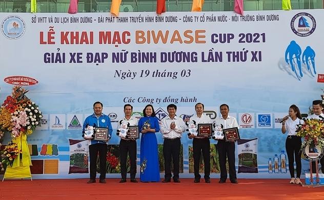 Nhựa Tiền Phong tài trợ giải xe đạp nữ Bình Dương - Cúp Biwase lần thứ XI