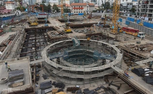Ga ngầm Bến Thành sắp hoàn thành