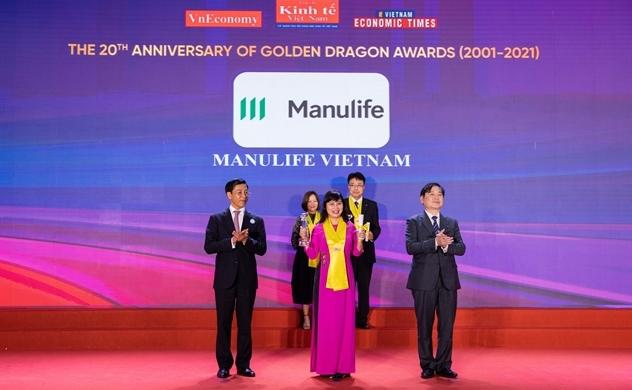 Manulife Việt Nam nhận Giải thưởng Rồng Vàng