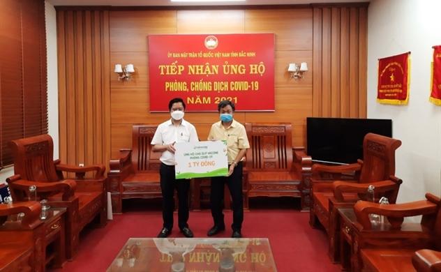 Vinasoy trao tặng 1 tỉ đồng ủng hộ quỹ ủng hộ Quỹ vaccine phòng COVID-19
