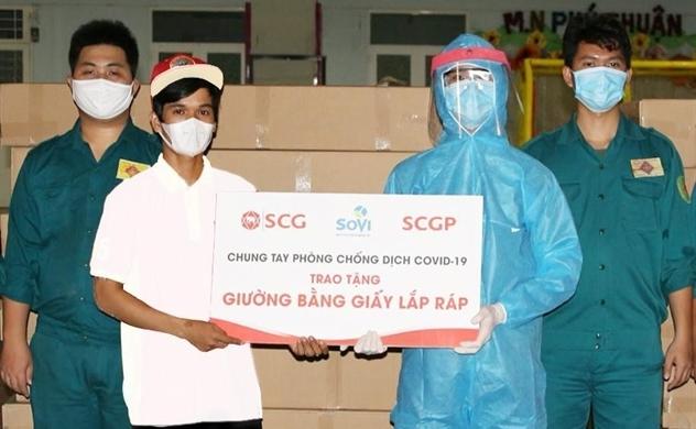 SCGP trao tặng sáng kiến độc đáo từ giấy, hỗ trợ TP.HCM phòng chống dịch COVID-19