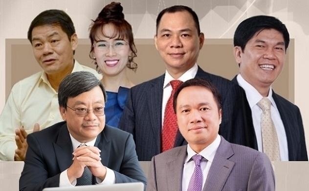 Giá trị tài sản của 6 tỉ phú giàu nhất Việt Nam đã tăng lên mức 19,2 tỉ USD