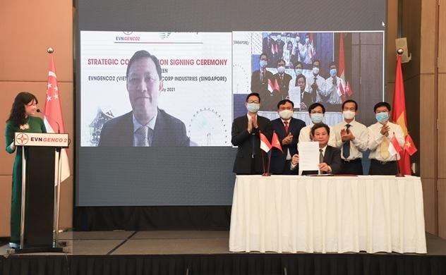 EVNGENCO2 ra mắt công ty cổ phần và ký kết Hợp tác Chiến lược với Sembcorp - Singapore