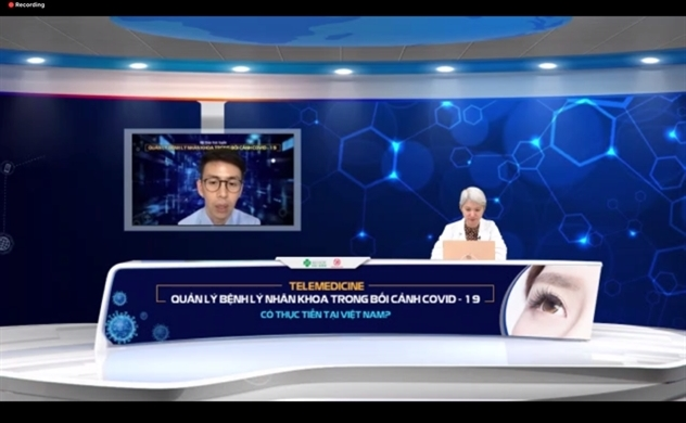 Chẩn đoán và điều trị từ xa các bệnh lý nhãn khoa, giảm gánh nặng y tế trong dịch COVID-19