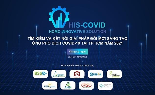 """Chương trình """"Tìm kiếm và kết nối giải pháp đổi mới sáng tạo ứng phó dịch COVID-19 tại TP. HCM năm 2021"""""""
