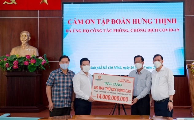 Tập đoàn Hưng Thịnh hỗ trợ khẩn hàng chục tỉ đồng cho TP.HCM phòng, chống dịch COVID-19